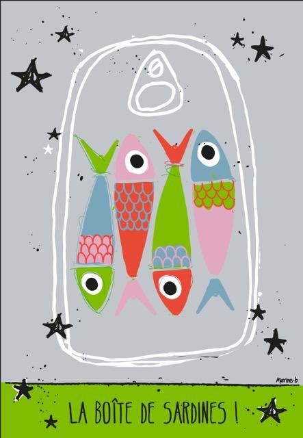 le torchon la bo te de sardines marine b. Black Bedroom Furniture Sets. Home Design Ideas