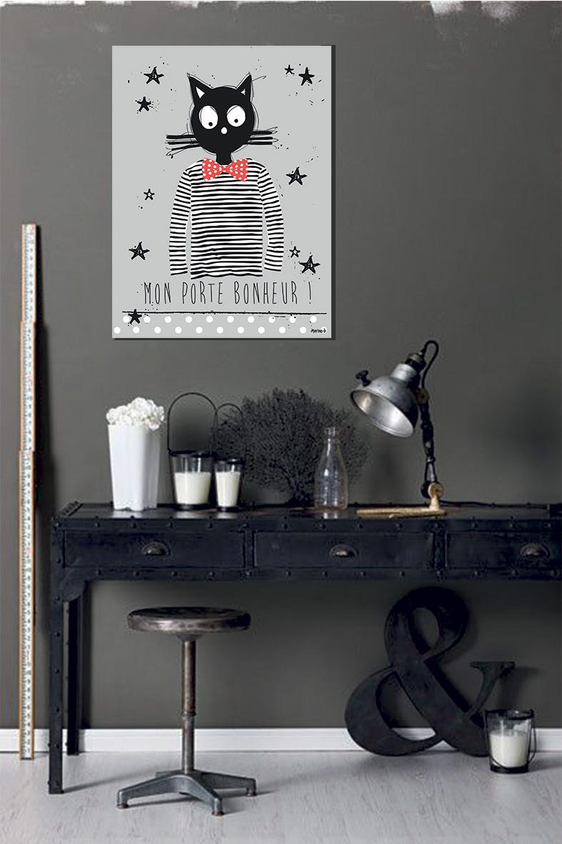 le tableau mon porte bonheur marine b. Black Bedroom Furniture Sets. Home Design Ideas